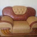 Шикарный кожаный мягкий уголок (диван, 2 кресла). Новый! Дешево!