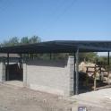 Строительство коттеджей. навесы, ангаров, автоматических ворот, заборов со сплиторными блоками