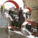 Облагораживание парковок , зеркала 600-800-1000-1200 мм , столбики , цепи пластиковые
