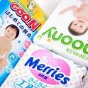Японские подгузники Merries, Goon, Moony.
