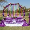 Оформление шарами, цветами, тканью (с подсветкой)