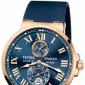Кварцевые часы Ulysse Nardin Maxi Marine Chronometer (синий/золото)