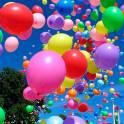 Гелиевые шары в Актобе. Взлет шаров.
