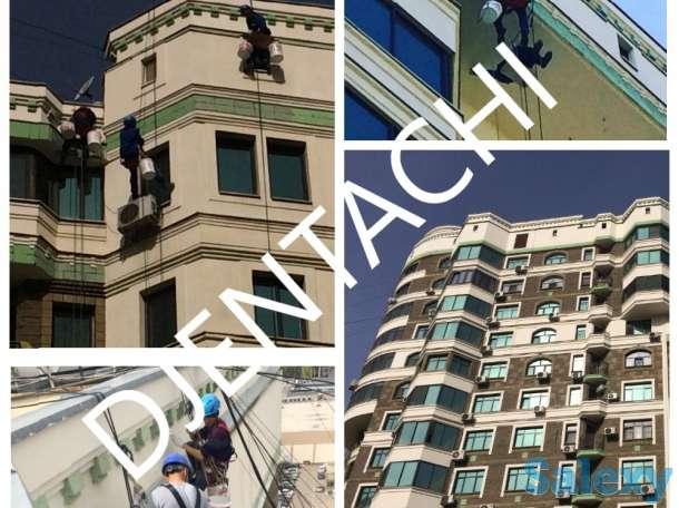 Покраска фасадов в Алматы. Покраска зданий в Алматы.
