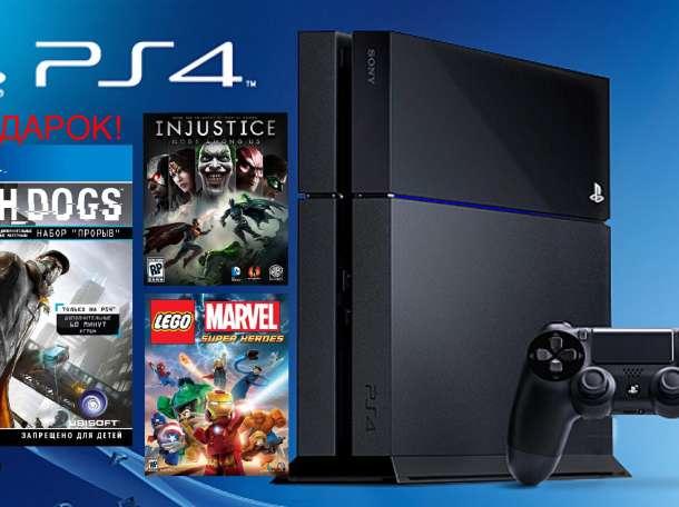 СРОЧНО! PS4 500gb + 3 игры в подарок!, фотография 1