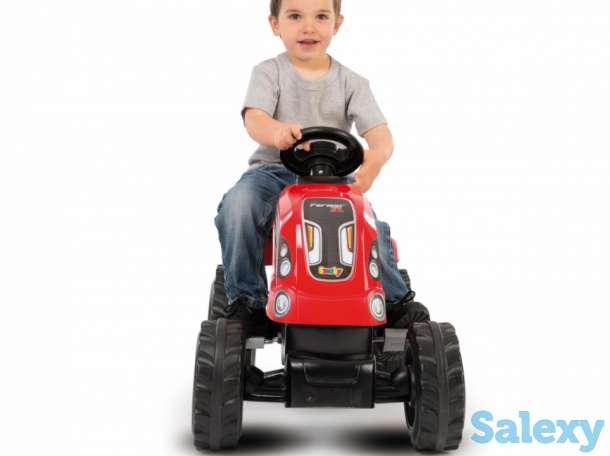 Трактор педальный XL с прицепом Smoby Франция, фотография 4