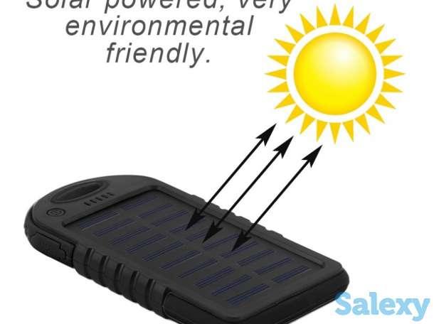 Продам китайский Solar Power Bank внешний аккумулятор с солнечной батареей и мощным LED фонарем из 20 LED диодов, с заяв, фотография 1