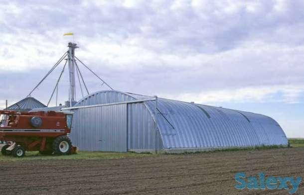 Зернохранилища арочные напольного типа - стальные амбары, фотография 1