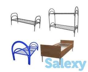 Железные кровати для казарм, кровати металлические одноярусные, двухъярусные, фотография 3