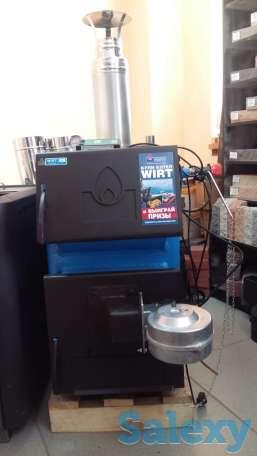 WIRT Classic 20 кВт (до 200 кв.м)– универсальный котел длительного горения. Комплектуется термометром и регулятором тяги, фотография 2