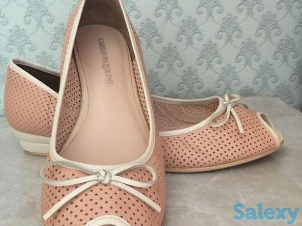 продам изящные туфли,38 размер, Италия, натуральная кожа. Мягкие и легкие., фотография 1
