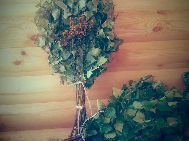 Банные веники дубовые и березовые с травами оптом, фотография 1