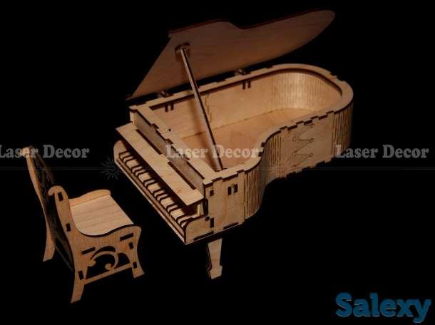 Рояль. Деревянная шкатулка в форме рояля, фотография 1