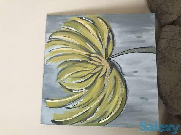 Продам , интерьерная абстракция , акрил, поталь 80*80, фотография 2