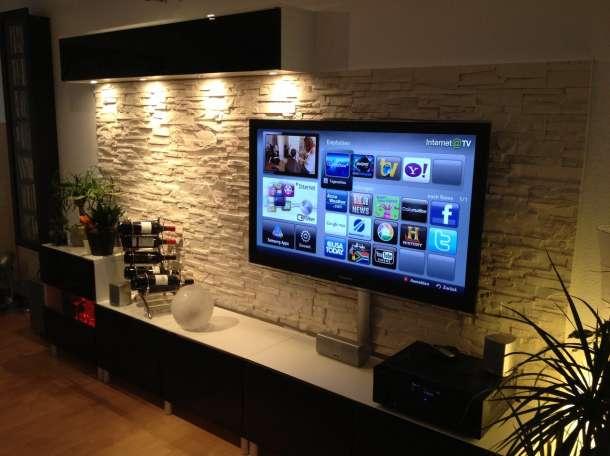 Профессиональная навеска телевизоров на стену, фотография 1