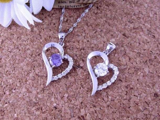 Продам серебряный ювелирные набор - Серьги + Ожерелье (Heart)., фотография 1