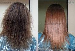 проф.выпрямление волнистых волос,ламинация,коллористика, фотография 1