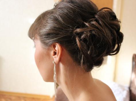 свадебные, вечерние причкски. плетения., фотография 11