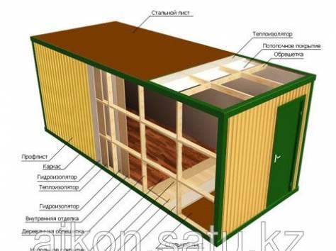 Утепленные контейнера, столовые, блок-модули, прорабские, бытовки, фотография 6