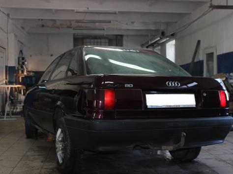 Продам Audi 90, 1990 г., 1.8л., вишневый металлик, фотография 2