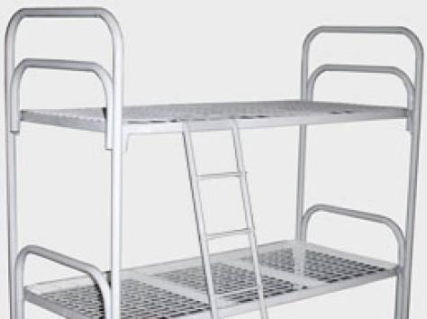 Кровати железные двухъярусные для общежитий от производителя., фотография 6