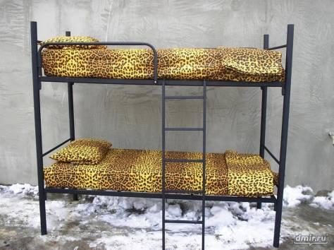 Металлические кровати с ДСП спинками, кровати двухъярусные железные., фотография 9