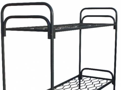 Кровати металлические одноярусные, кровати двухъярусные. Оптом., фотография 1