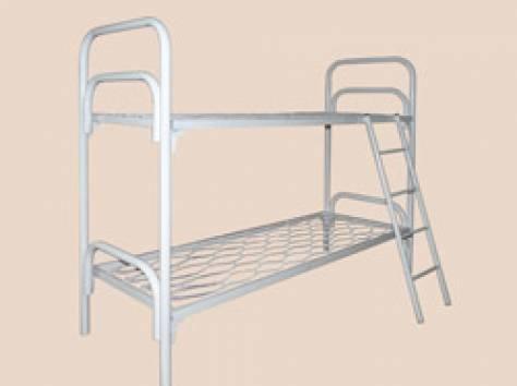 Кровати металлические одноярусные, кровати двухъярусные. Оптом., фотография 5