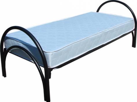 Кровати металлические одноярусные, кровати двухъярусные. Оптом., фотография 10