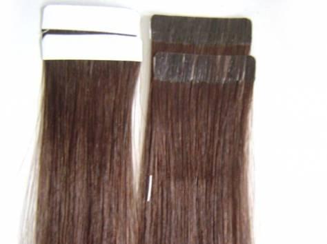 Натуральные волосы на трессе, заколках, капсулах, лентах, фотография 5