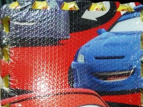 Безопасный комфортный детский коврик-пазл двухсторонний., фотография 1