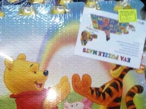 Безопасный комфортный детский коврик-пазл двухсторонний., фотография 4