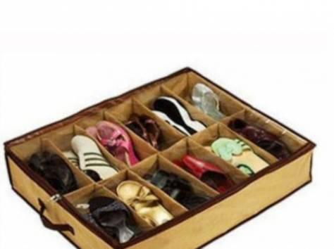 Органайзер чемодан для обуви оригинал на твердой основе на 12 пар 41069, фотография 2