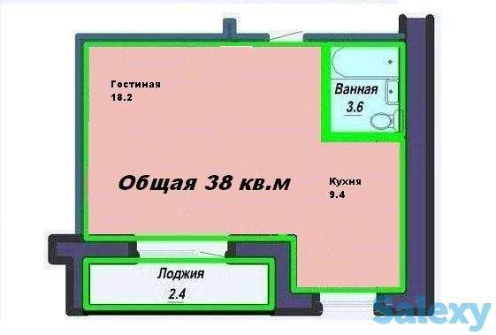 Лесная поляна 38 кв.м, 4 этаж, Акмолинская область, поселок жилой массив Лесная поляна, фотография 1