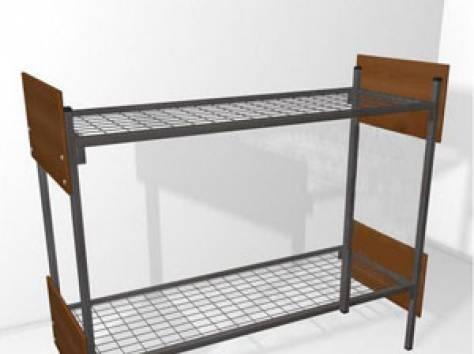 Металлические кровати с ДСП спинками для больниц, кровати для гостиниц, кровати для студентов, кровати для пансионатов., фотография 2