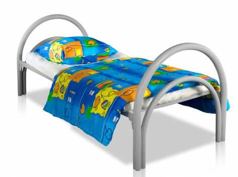 Металлические кровати с ДСП спинками для больниц, кровати для гостиниц, кровати для студентов, кровати для пансионатов., фотография 3