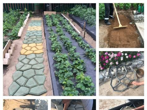 Формы для изготовления садовых тропинок, фотография 1