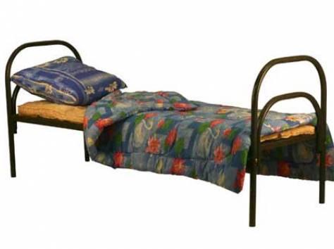 Металлические кровати для пансионатов, кровати для детских лагерей, кровати одноярусные и двухъярусные, дёшево., фотография 2