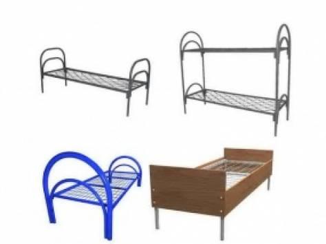 Металлические кровати с ДСП спинками для пансионатов, кровати для гостиниц, кровати для студентов, по оптовой цене., фотография 1