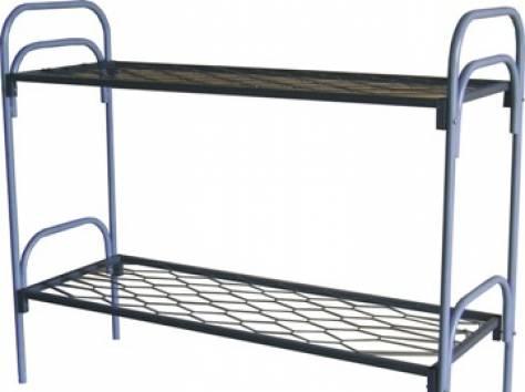Металлические кровати с ДСП спинками для пансионатов, кровати для гостиниц, кровати для студентов, по оптовой цене., фотография 7