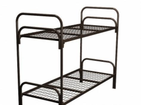 Одноярусные металлические кровати для вагончиков, кровати одноярусные, кровати армейские, кровати для общежитий, дёшево., фотография 3