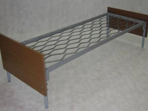 Одноярусные металлические кровати для вагончиков, кровати одноярусные, кровати армейские, кровати для общежитий, дёшево., фотография 4