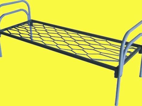 Двухъярусные железные кровати, для казарм, металлические кровати с ДСП спинками, кровати для бытовок, кровати оптом., фотография 6