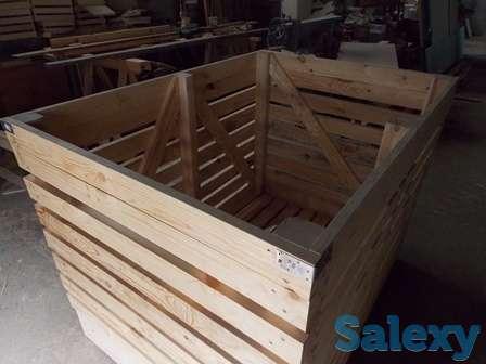 Контейнер деревянный для овощехранилищ 1600х1200х1200мм. Опт., фотография 7