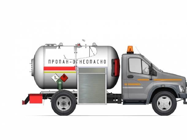 Автоцистерну для транспортировки и временного хранения СГУ на базе шасси ГАЗон NEXT., фотография 1