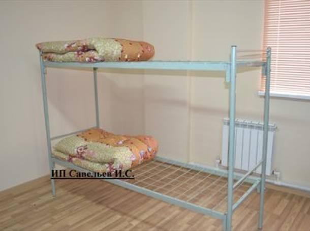 Кровати металлические для рабочих, общежитий, гостиниц, больниц, фотография 2