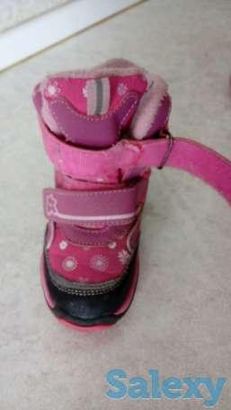 Зимние ботинки для девочки ф. зебра, б\у, фотография 1