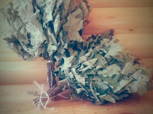 Банные веники дубовые и березовые с травами оптом, фотография 2