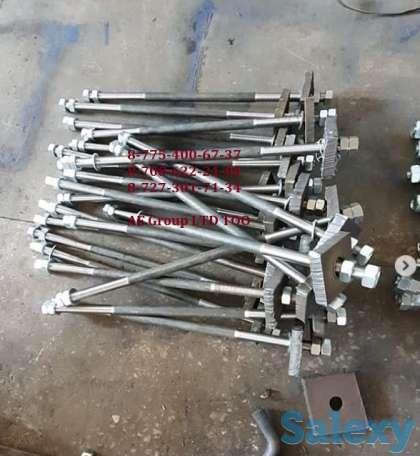 Фундаментные анкерные болты ГОСТ 24379.1-80, шпильки фланцевые ГОСТ, фотография 1