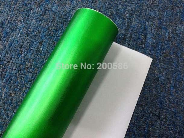 Пленка матовый хром зеленое яблоко Wrap, фотография 2